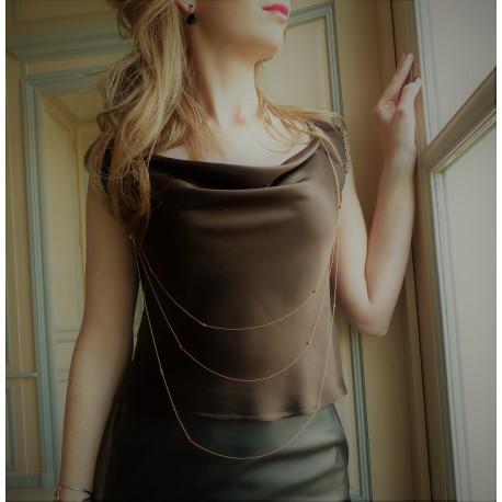 Bijoux de vêtement en plaqué or