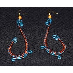 Boucles d'oreille en wire wrapping