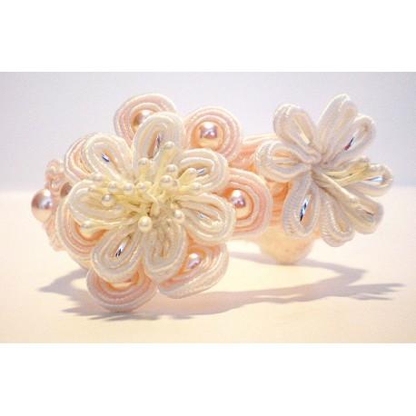 "Bracelet en soutache ""fleurs"""
