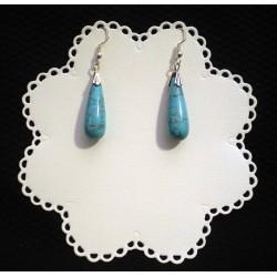 """Boucles d'oreille en perles semi précieuses """"Turquoise"""""""