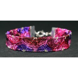 Bracelet en wire wrapping tissé