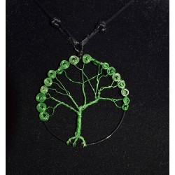 "Collier en wire wrapping ""arbre de vie"""