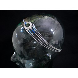Bijoux de tête aux swarovski bleu et cristal