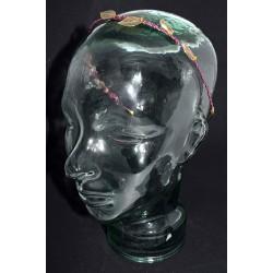 Serre tête en wire wrapping et feuilles filigranes