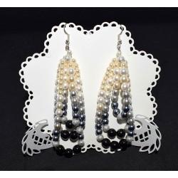 Boucles d'oreille en perles