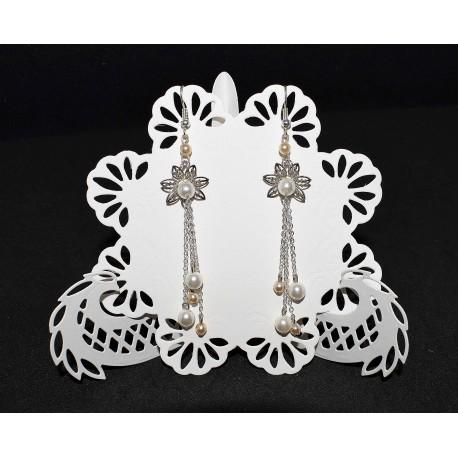 Boucles d'oreille en chaine et perles